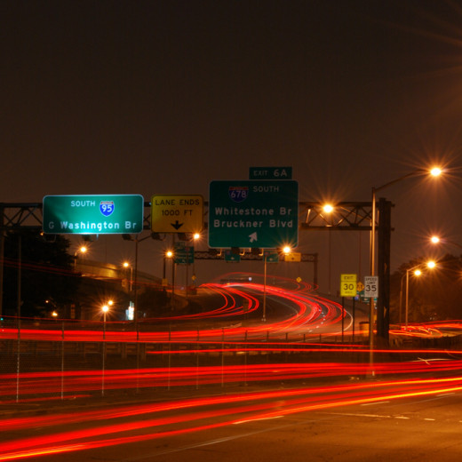 Cross Bronx Expressway Light Trails