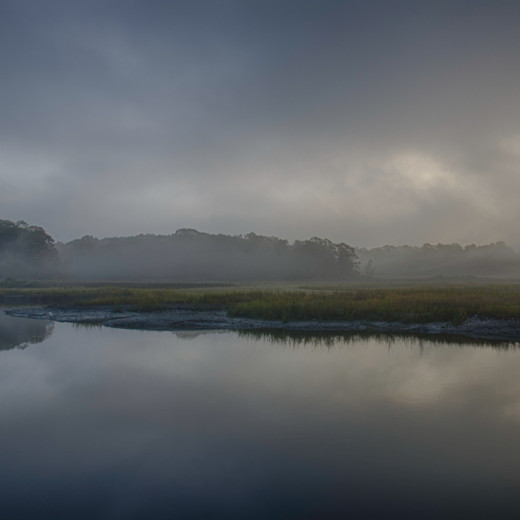 Pelham Bay Marshes in Fog (HDR)