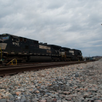 Roanoke Train Yard Locomotive