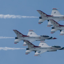 USAF Thunderbirds 4-Ship in Flight